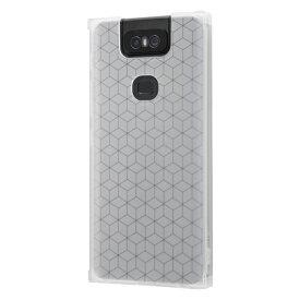 イングレム Ingrem ZenFone 6(ZS630KL) 耐衝撃ソフトケース KAKU/クリア(半透明) IS-RAZ6TK1/C クリア(半透明)