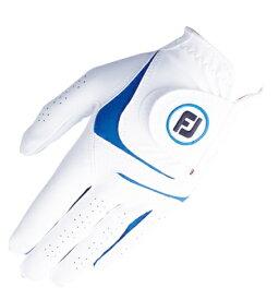 フットジョイ FootJoy 【メンズ 左手用】ゴルフグローブ ウェザーソフ WeatherSof(ホワイト×ブルー/23cm)FGWF18【仕様変更に伴い新旧商品が混在致します】