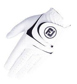 フットジョイ FootJoy 【メンズ 左手用】ゴルフグローブ ウェザーソフ WeatherSof(ホワイト×ブラック/23cm)FGWF18【仕様変更に伴い新旧商品が混在致します】