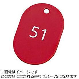 オープン工業 OPEN INDUSTRIES スチロール番号札 51〜75(25枚) 大 レッド BF-52-RD <PBV1113>[PBV1113]