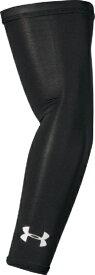 アンダーアーマー UNDER ARMOUR 男女兼用 トレーニング UAヒートギア アームスリーブ UA Heatgear Arm Sleeve(LGサイズ×Black / / White)1313490-001