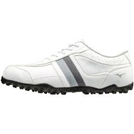 ミズノ mizuno 24.5cm メンズ ゴルフシューズ T-ZOID SPIKELESS ティーゾイド スパイクレス(ホワイト×グレー) 51GQ1685 03