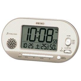 セイコー SEIKO 目覚まし時計 【メロディアラーム】 薄ピンクゴールド SQ795G [デジタル /電波自動受信機能有]