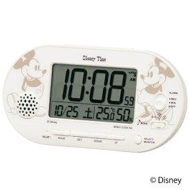 セイコー SEIKO 目覚まし時計 【Disney Time(ディズニータイム)ミッキー&ミニー】 白パール FD482A [デジタル /電波自動受信機能有]