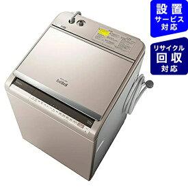 日立 HITACHI BW-DV120E-N 縦型洗濯乾燥機 ビートウォッシュ シャンパン [洗濯12.0kg /乾燥6.0kg /ヒーター乾燥(水冷・除湿タイプ) /上開き][ビートウォッシュ 洗濯機 12kg BWDV120E]