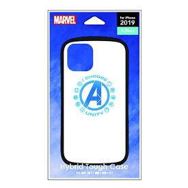 PGA iPhone 11 Pro 5.8インチ ハイブリッドタフケース アベンジャーズ ホワイト PG-DPT19A10AVG