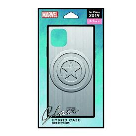 PGA iPhone 11 6.1インチ 用 ガラスハイブリッドケース  キャプテン・アメリカ シルバー PG-DGT19B15CTA