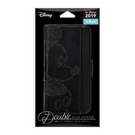 PGA iPhone 11 Pro 5.8インチ ダブルフリップカバー ミッキーマウス ブラック PG-DFP19A01MKY