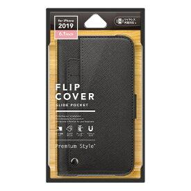 PGA iPhone 11 6.1インチ 用 スライドポケットフリップカバー ブラック PG-19BFP10BK