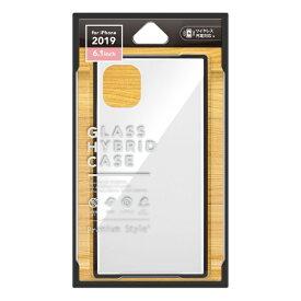 PGA iPhone 11 6.1インチ 用 ガラスハイブリッドケース ホワイト PG-19BGT02WH