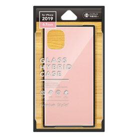 PGA iPhone 11 6.1インチ 用 ガラスハイブリッドケース ピンク PG-19BGT03PK