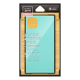 PGA iPhone 11 6.1インチ 用 ガラスハイブリッドケース ブルー PG-19BGT04BL