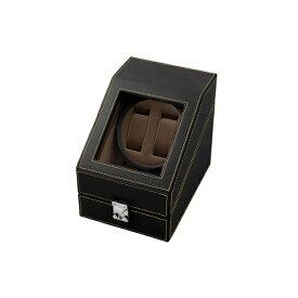 エスプリマ 合皮2連ワインディングマシーン SP43012LBK(ブラック&ブラウン) 【正規品】 SP43012LBK ブラック&ブラウン
