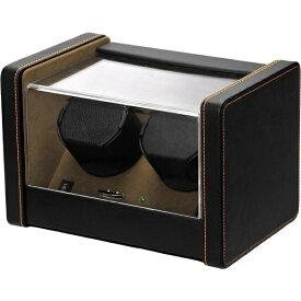 エスプリマ 2本用ワインディングマシーン(2WAY電源) SP2183022BK(ブラック&ブラウン) 【正規品】 SP2183022BK ブラック&ブラウン