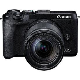 キヤノン CANON EOS M6 Mark II ミラーレス一眼カメラ EF-M18-150 IS STM レンズキット ブラック [ズームレンズ][EOSM6MK2BK18150ISSTM]【point_rb】