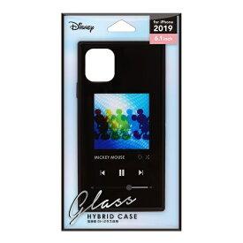 PGA iPhone 11 6.1インチ 用 ガラスハイブリッドケース ミッキーマウス ブラック PG-DGT19B01MKY