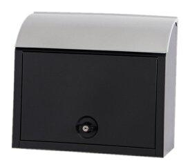 KGY (ケイジーワイ) ポスッチ シリンダー錠付 郵便ポスト A4対応 ブラック MY-3BK