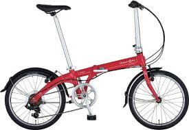 DAHON ダホン 20型 折りたたみ自転車 Vybe D7 ヴァイブ D7 インターナショナルモデル フォールディングバイク(外装7段変速/カーマインレッド/アルミフレーム)【2019年モデル】 【代金引換配送不可】