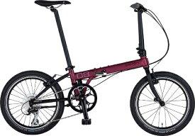 DAHON ダホン 20型 折りたたみ自転車 Speed D8 Street スピード D8 ストリート インターナショナルモデル フォールディングバイク(外装8段変速/ダークワイン/クロモリフレーム)【2019年モデル】 【代金引換配送不可】