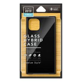PGA iPhone 11 Pro 5.8インチ用 ガラスハイブリッドケース ブラック PG-19AGT01BK