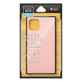 PGA iPhone 11 Pro 5.8インチ用 ガラスハイブリッドケース ピンク PG-19AGT03PK