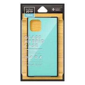 PGA iPhone 11 Pro 5.8インチ用 ガラスハイブリッドケース ブルー PG-19AGT04BL