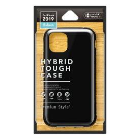 PGA iPhone 11 Pro 5.8インチ用 ハイブリッドタフケース ブラック PG-19APT01BK