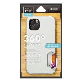 PGA iPhone 11 Pro 5.8インチ用 360度フルカバーケース シルバー PG-19AFC02SV
