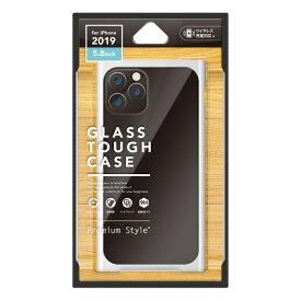 PGA iPhone 11 Pro 5.8インチ用 クリアガラスタフケース スクエア型 ホワイト PG-19AGT11WH