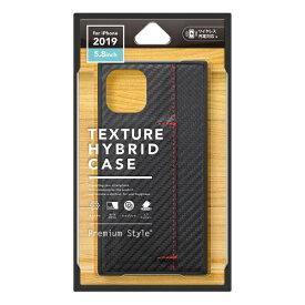 PGA iPhone 11 Pro 5.8インチ用 テクスチャーハイブリッドケース カーボン調ブラック PG-19APT10BK