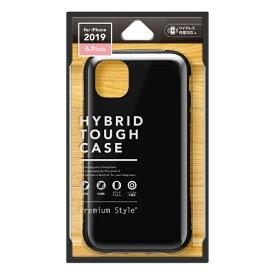 PGA iPhone 11 6.1インチ 用 ハイブリッドタフケース ブラック PG-19BPT01BK