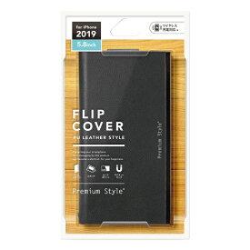 PGA iPhone 11 Pro 5.8インチ用 オールPUレザーフリップカバー ブラック PG-19AFP22BK