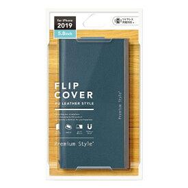 PGA iPhone 11 Pro 5.8インチ用 オールPUレザーフリップカバー ブルー PG-19AFP23BL
