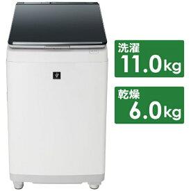 シャープ SHARP ES-PW11D-S 縦型洗濯乾燥機 シルバー系 [洗濯11.0kg /乾燥6.0kg /ヒーター乾燥(排気タイプ) /上開き][洗濯機 11kg ESPW11D]