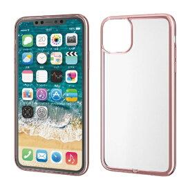 エレコム ELECOM iPhone 11 Pro Max 6.5インチ ソフトケース サイドメッキ 極み ピンク PM-A19DUCTMPN