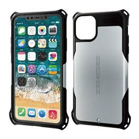 エレコム ELECOM iPhone 11 Pro Max 6.5インチ ZEROSHOCK スタンダード シルバー PM-A19DZEROSV