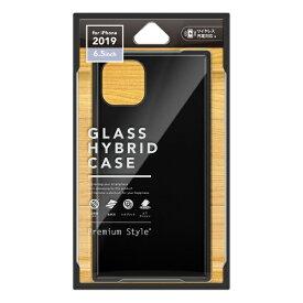 PGA iPhone 11 Pro Max 6.5インチ 用 ガラスハイブリッドケース ブラック PG-19CGT01BK