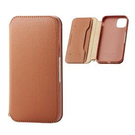 エレコム ELECOM iPhone 11 6.1インチ対応 ソフトレザーケース 磁石付 ブラウン PM-A19CPLFY2BR