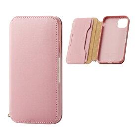 エレコム ELECOM iPhone 11 6.1インチ対応 ソフトレザーケース 磁石付 ピンク PM-A19CPLFY2PN