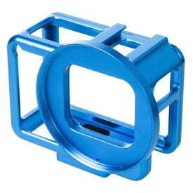 エツミ ETSUMI E2222 GoProHERO7用アクションメタルプロテクターカバー ブルー