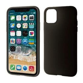 エレコム ELECOM iPhone 11 6.1インチ対応 シリコンケース ブラック PM-A19CSCBK