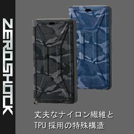 エレコム ELECOM iPhone 11 6.1インチ対応 ZEROSHOCK フラップ カモフラ(ネイビー) PM-A19CZEROFT2