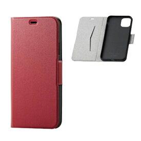 エレコム ELECOM iPhone 11 Pro Max 6.5インチ ソフトレザーケース 磁石付 薄型 レッド PM-A19DPLFURD