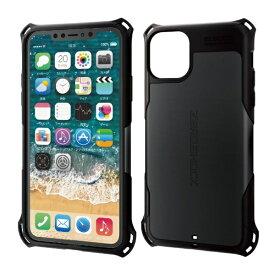 エレコム ELECOM iPhone 11 Pro Max 6.5インチ ZEROSHOCK スタンダード ブラック PM-A19DZEROBK