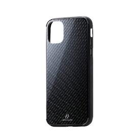 エレコム ELECOM iPhone 11 6.1インチ対応 ハイブリッドケース ガラス エンボス カーボン PM-A19CHVCG8D4