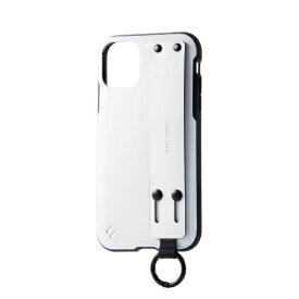 エレコム ELECOM iPhone 11 6.1インチ対応 TOUGH SLIM バンド付 ホワイト PM-A19CTSBWH