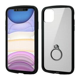 エレコム ELECOM iPhone 11 6.1インチ対応 TOUGH SLIM LITE フレームカラー リング付 ブラック PM-A19CTSLFCRBK