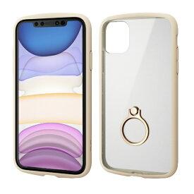 エレコム ELECOM iPhone 11 6.1インチ対応 TOUGH SLIM LITE フレームカラー リング付 アイボリー PM-A19CTSLFCRIV