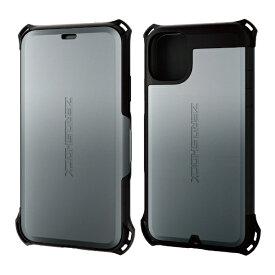 エレコム ELECOM iPhone 11 6.1インチ対応 ZEROSHOCK シールド シルバー PM-A19CZEROSSV