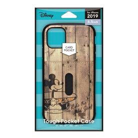 PGA iPhone 11 Pro Max 6.5インチ 用 タフポケットケース PG-DPT19C05MKY ミッキーマウス